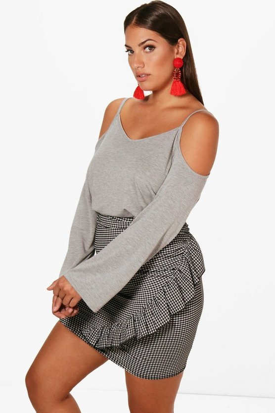 Plus Lola Open Shoulder Top