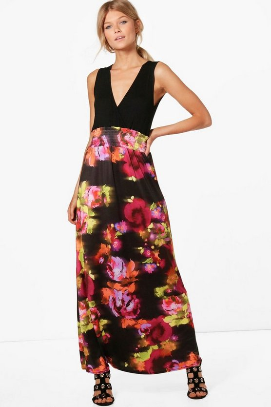 Petite Phillipa Floral Print Maxi Dress