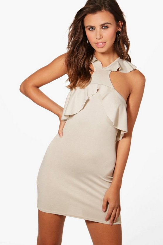 Petite Lola Frill Strap Bodycon Dress