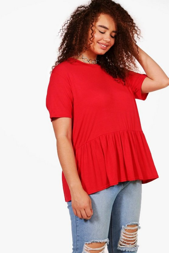 Plus Lauren Ruffle Hem T-shirt