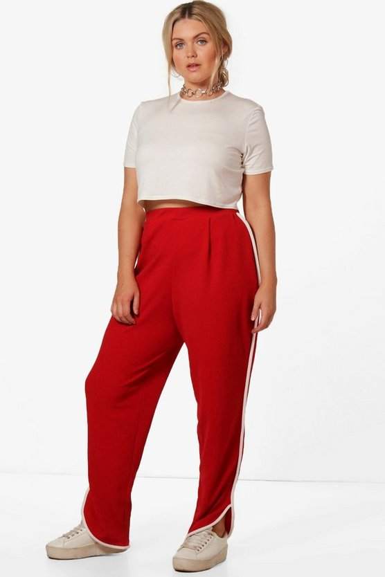 Plus Orla Binding Detail Split Hem Trouser