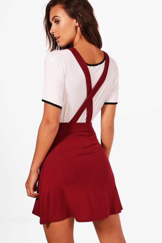 Petite Tilly Cross Back Pinafore Dress