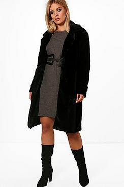 Plus Indea Longline Fur Coat
