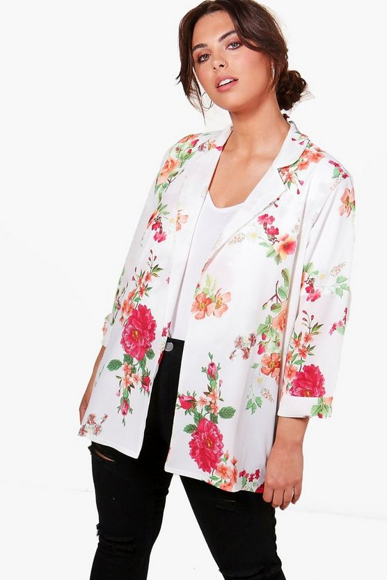 Plus Billy Floral Print Blazer