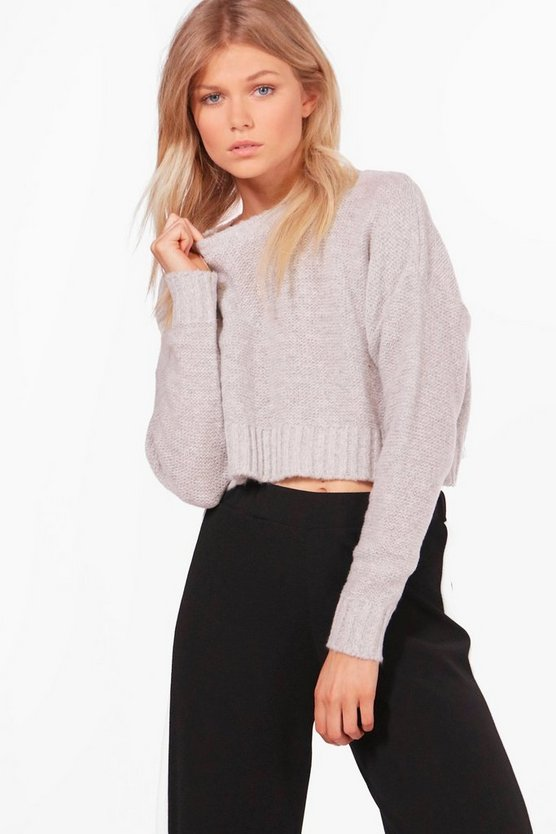 Petite Katy Oversized Crop Jumper