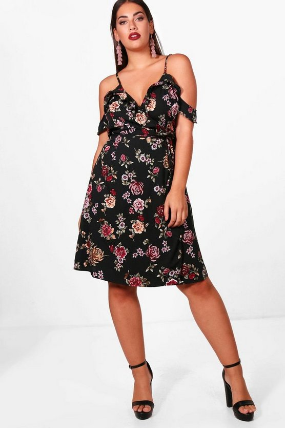 Plus Alexandra Floral Wrap Dress