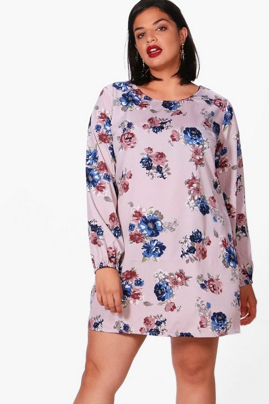 Plus Sasha Floral Printed Shift Dress
