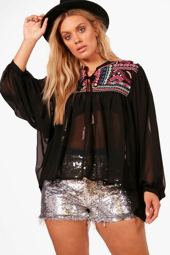 Plus Leona Premium Embellished Top