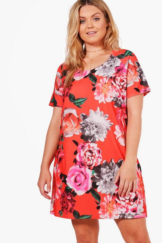 Plus Abbie Floral Shift Dress