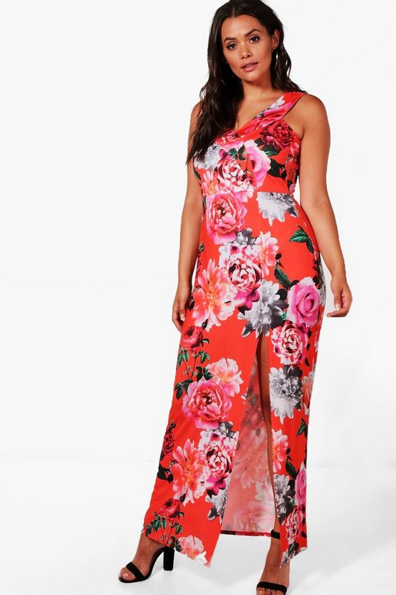 Plus Macie Off The Shoulder Floral Maxi Dress