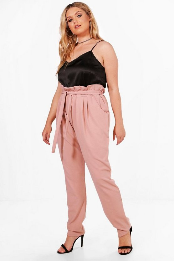 Plus Alisha Frill Waist Tapered Trouser