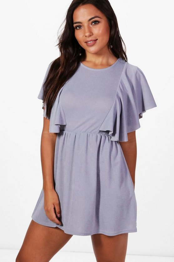 Petite Katy Frill Detail Skater Dress