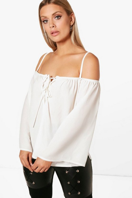 Plus Melissa Cold Shoulder Eyelet