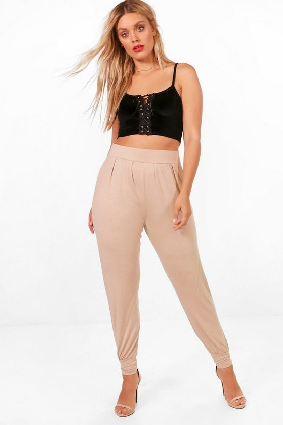 Plus Lucia Front Jersey Hareem Trouser