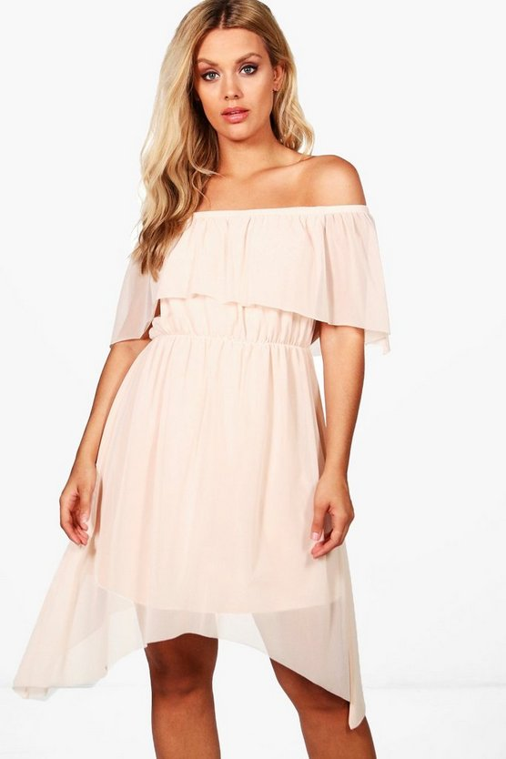 Plus Lily Double Layer Skater Dress