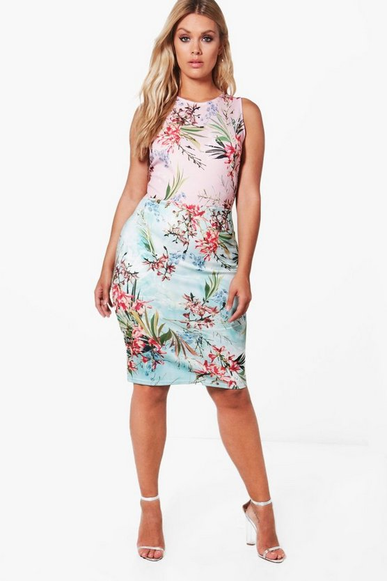 Plus Millie Floral Midi Dress