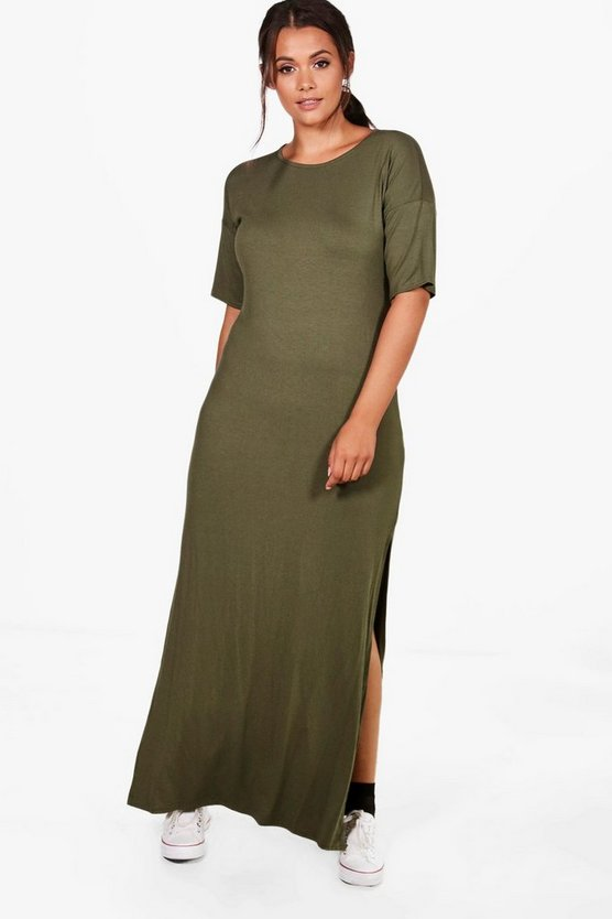 Plus Nadia Drop Sleeve Side Split Maxi Dress