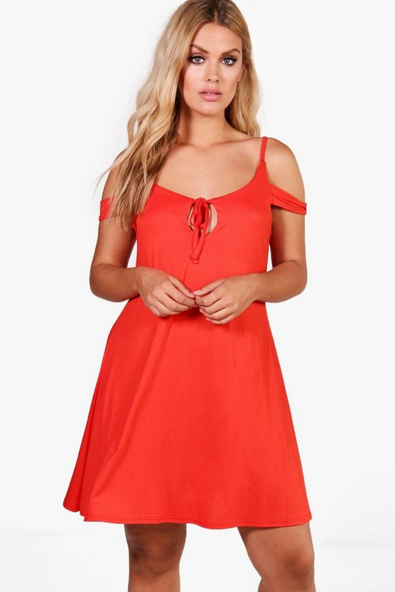 Plus Holly Cold Shoulder Mini Sundress