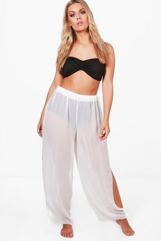 Plus Jayne Split Side Beach Trouser