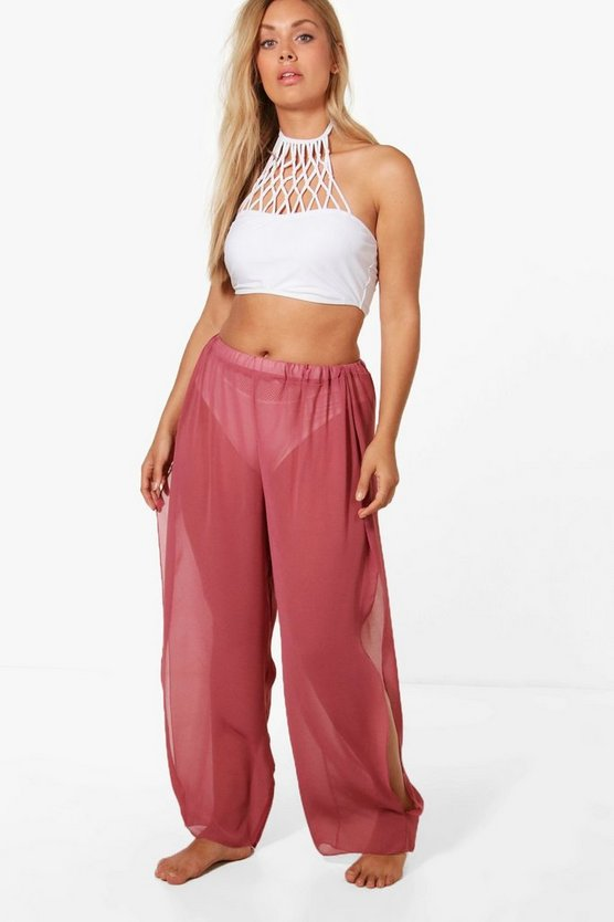 Plus Split Side Beach Trouser