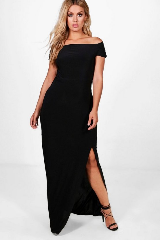 Plus Louisa Off The Shoulder Maxi Dress