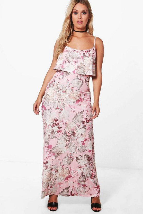Plus Skye Double Layer Floral Maxi Dress