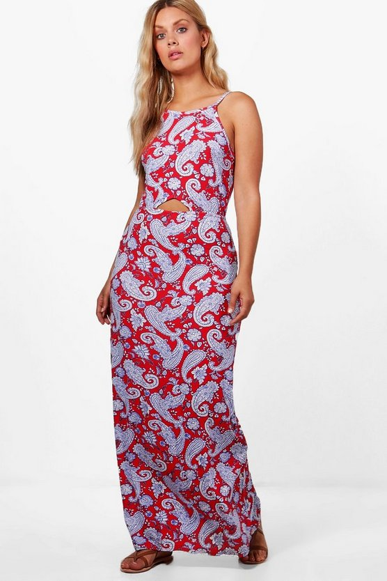 Plus Esme Halterneck Paisley Maxi Dress