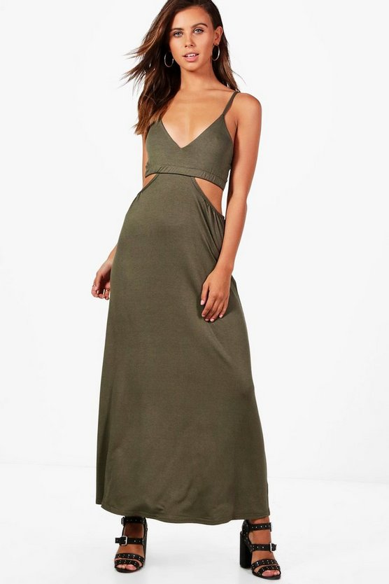 Petite Milly Cut Out Strappy Maxi Dress