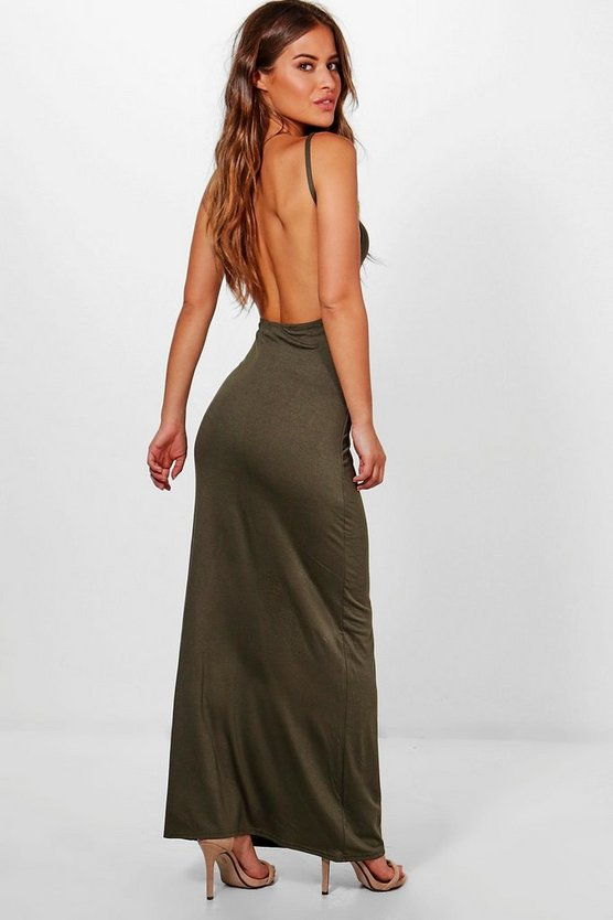 Petite Kaitlyn Backless Maxi Dress