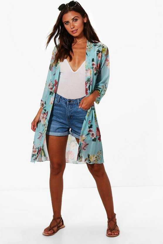 Petite Kelly Floral Print Duster