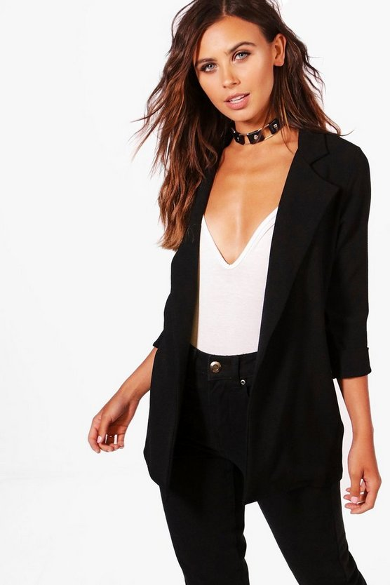 Petite Fiona 3/4 Sleeve Open Duster