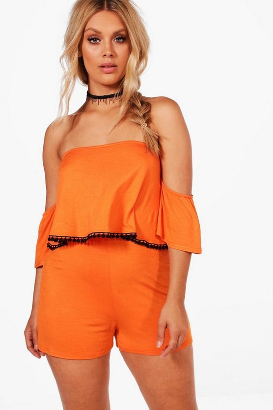 Plus Bethany Double Layer Playsuit