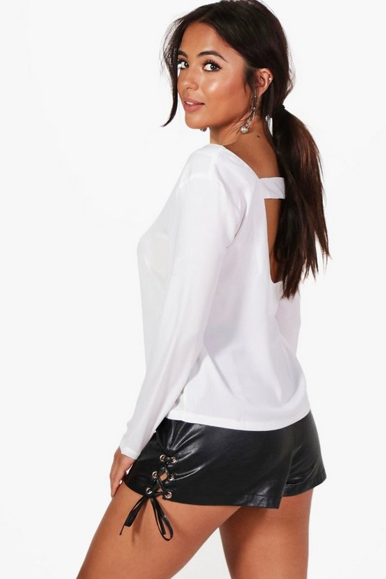 Petite Molly Open Back Detail Blouse