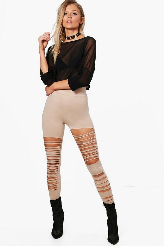 Petite Alice Extreme Slashed Leggings