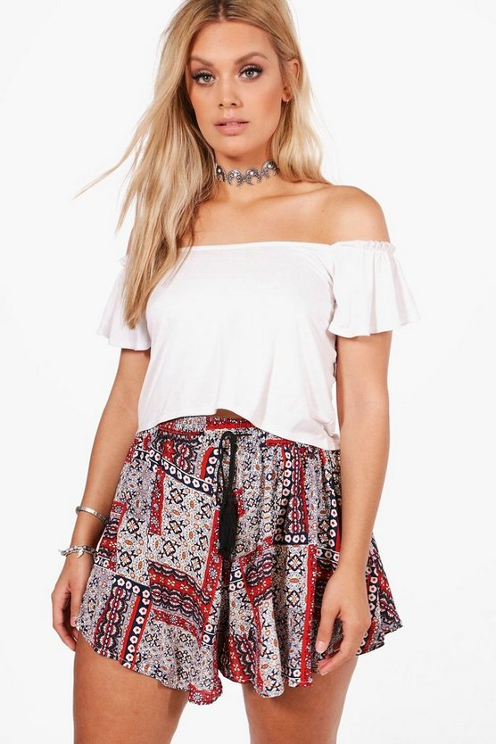 Plus Tabitha Printed Woven Short