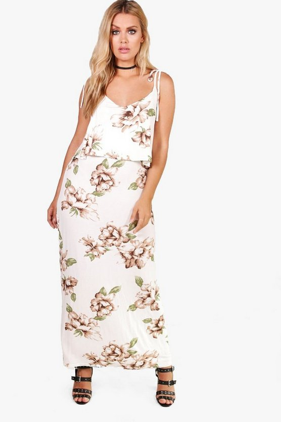Plus Tasha Layer Floral Maxi Dress