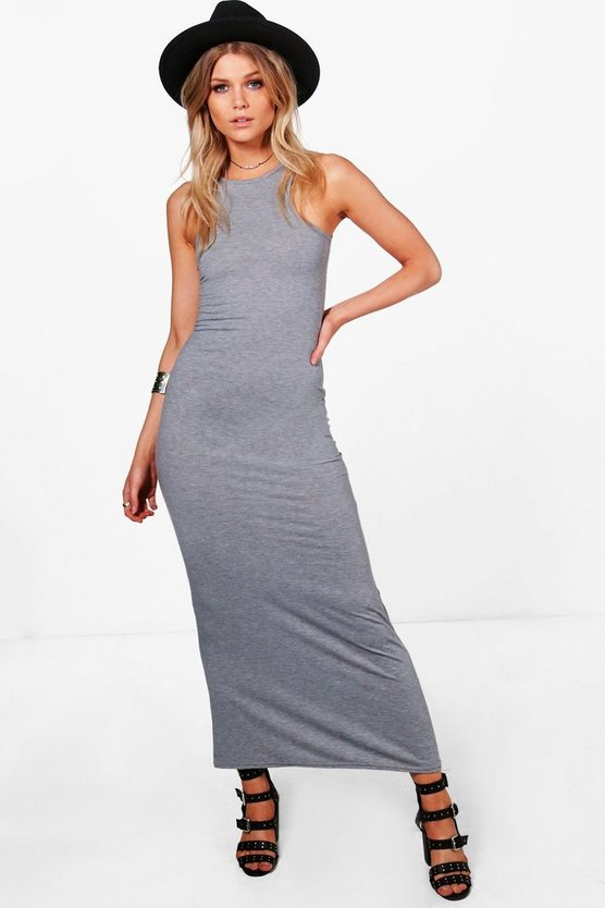 Petite Naomi Racer Front Basic Maxi Dress