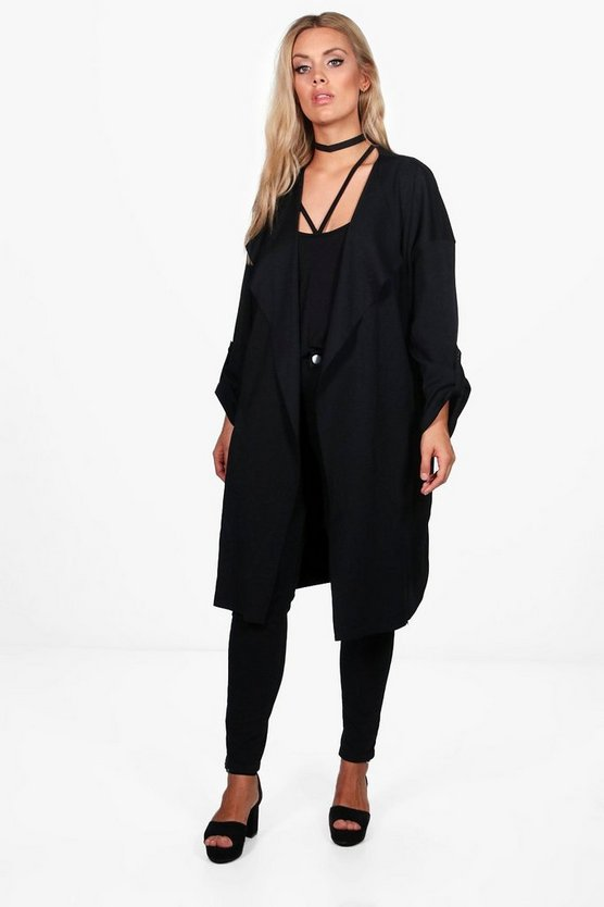 Plus Maria Waterfall Duster Jacket