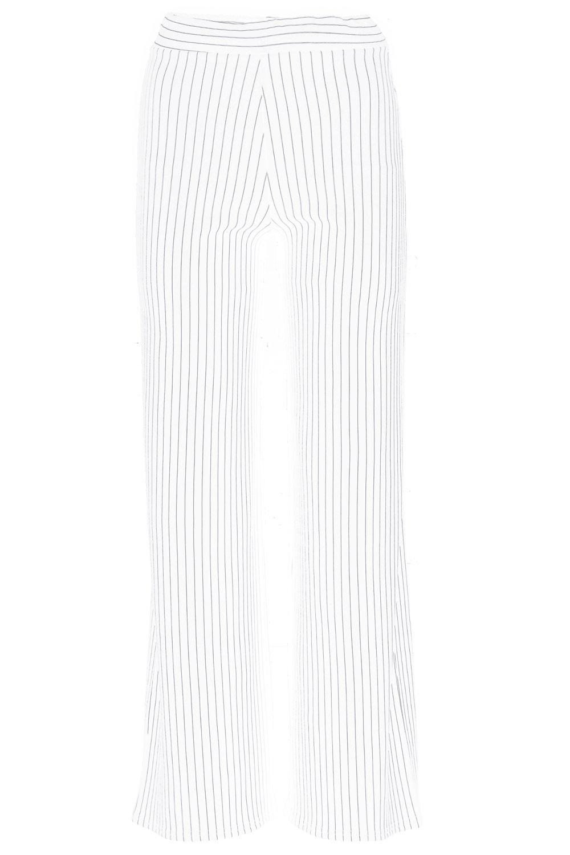 Boohoo-Petite-Caroline-Pantalon-Large-A-Rayures-pour-Femme