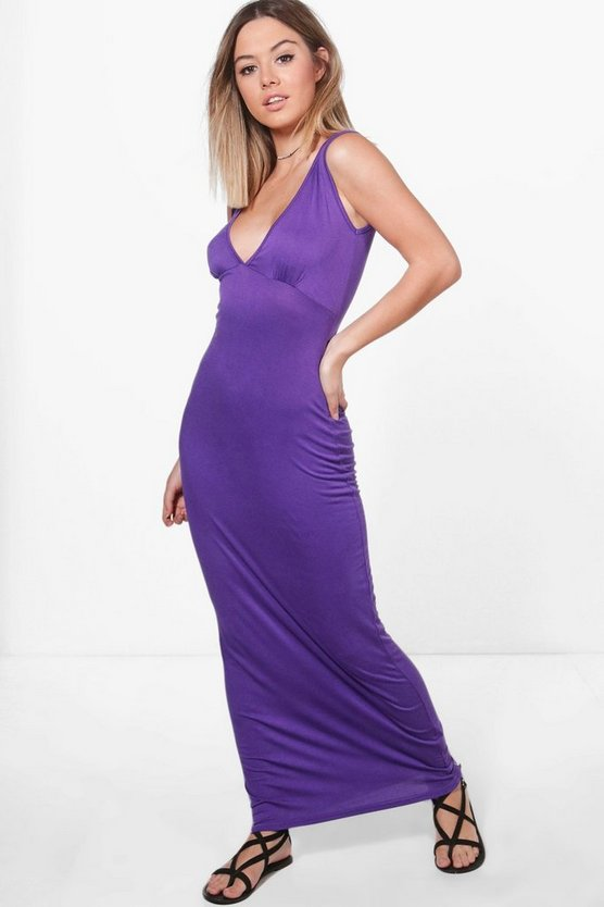Petite Holly Plunge Jersey Maxi Dress