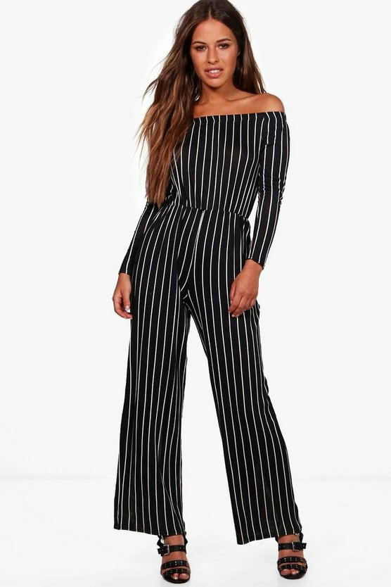 Petite Connie Stripe Wide Leg Jumpsuit