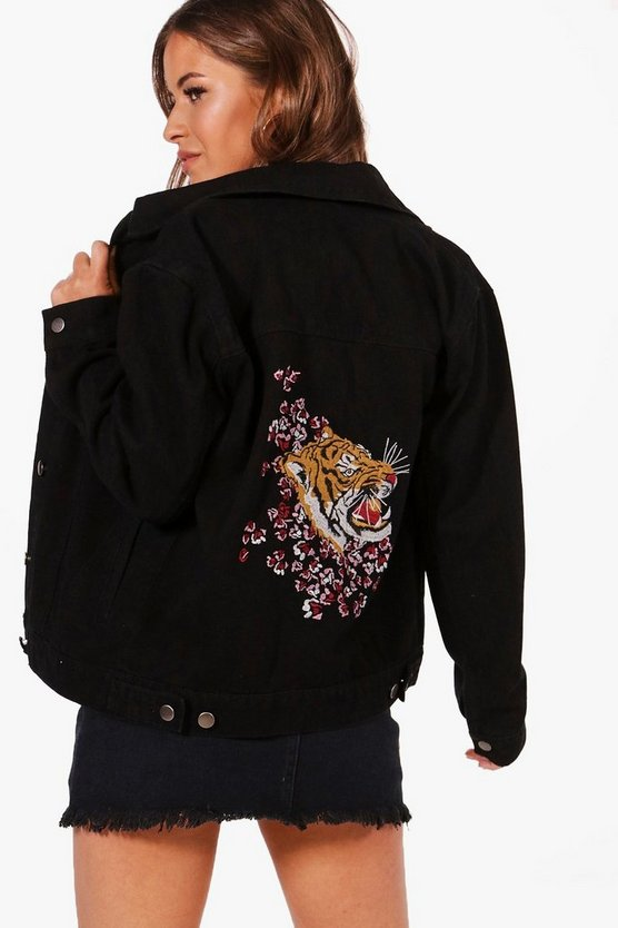 Petite Janice Embroidered Tiger Jacket