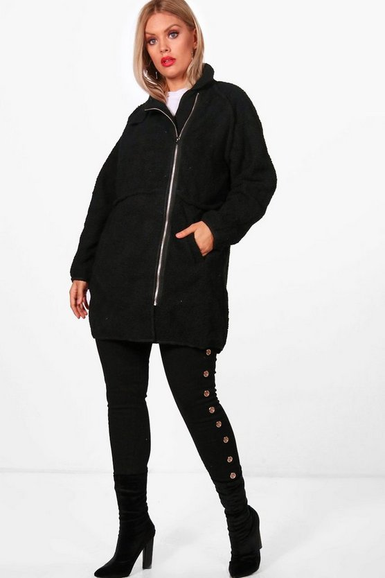 Plus Ciara Bore Longline Coat
