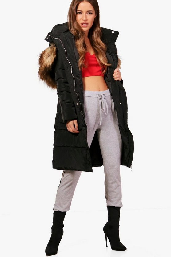 Petite Jennifer Longline Padded Coat