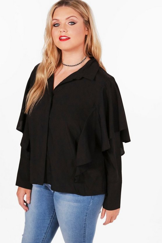 Plus Elise Frill Detail Shirt