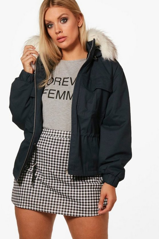 Plus Rosie Pocket Front Hooded Jacket