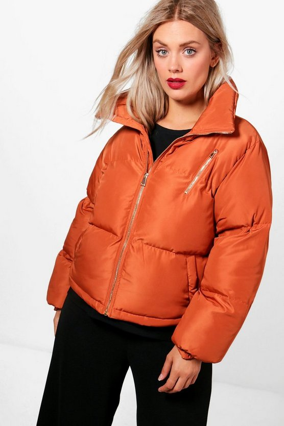 Plus Harriet Funnel Neck Padded Jacket