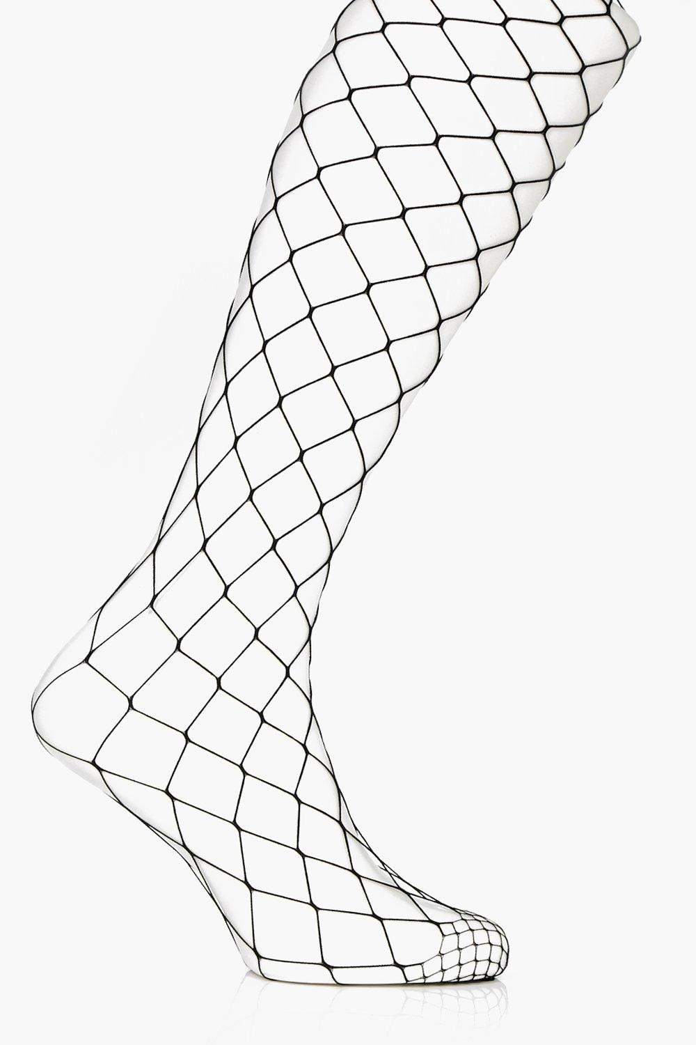 Julia Oversized Fishnet Tight - black - Plus Julia