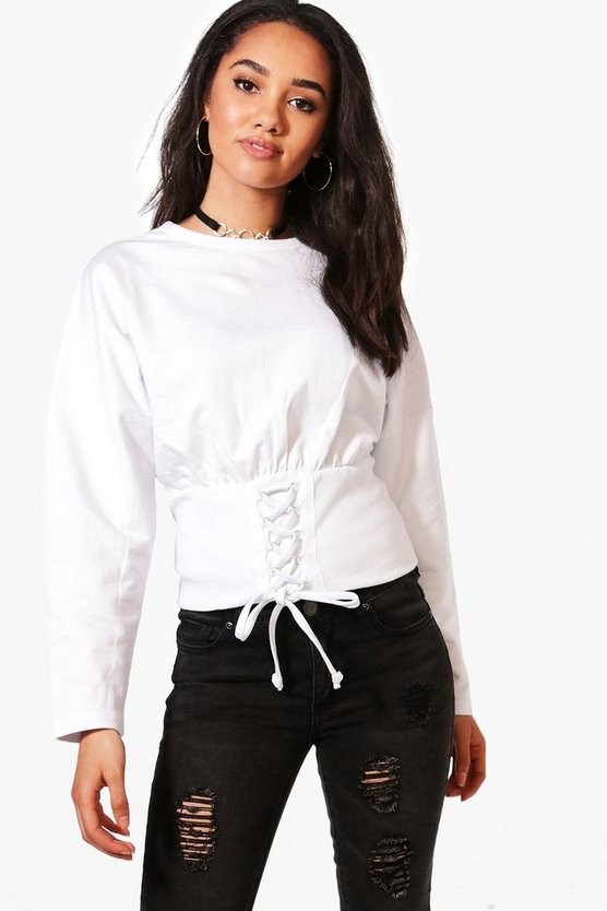 Petite Laura Corset Detail Sweat