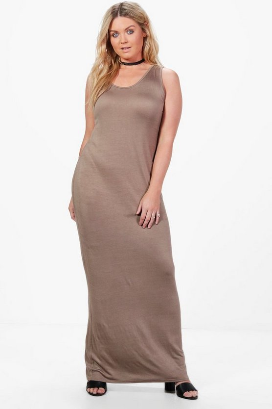 Plus Rachel Scoop Neck Maxi Dress
